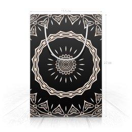"""Пакет 15.5х22х5cм """"Барабан """" - музыка, праздник, черный, подарок, абстракция"""