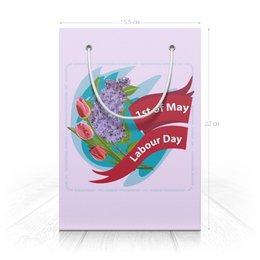 """Пакет 15.5х22х5cм """"1 мая"""" - праздник, цветы, 1 мая, весна, день труда"""