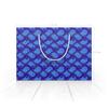 """Пакет 22x15.5х5cм """"Синий пейсли (упаковка подарка)"""" - узор, орнамент, подарок, пейсли"""