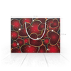 """Пакет 22x15.5х5cм """"СЕРДЕЧНЫЙ РИТМ"""" - любовь, сердца, абстракция, стиль эксклюзив креатив красота яркость, арт фэнтези"""