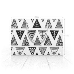 """Пакет 22x15.5х5cм """"Треугольники"""" - черно-белая, треугольник, графика, абстракция, от руки"""
