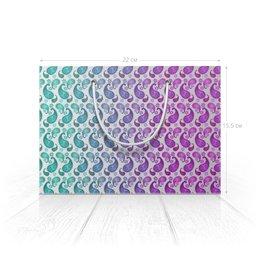 """Пакет 22x15.5х5cм """"Пейсли для подарочной упаковки"""" - орнамент, подарок, растения, индийский, пейсли"""