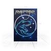 """Пакет 25x35x8cм """"ДИНОЗАВРЫ ФЭНТЕЗИ. raptor"""" - животные, космос, стиль надпись логотип яркость, стиль эксклюзив креатив красота яркость, арт фэнтези"""