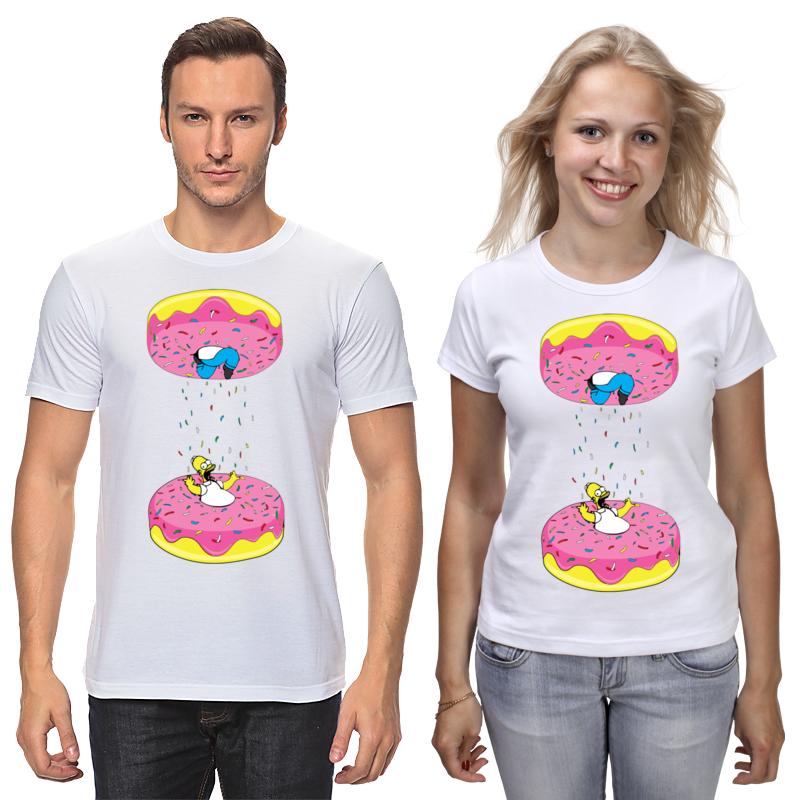 Футболки парные Printio Simpsons x portal футболки