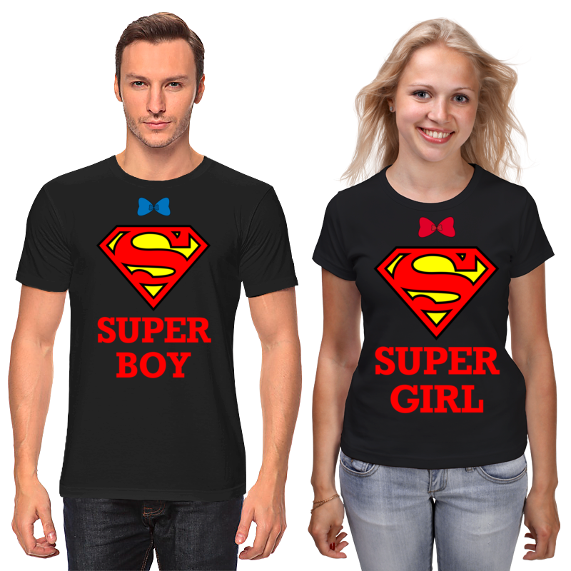 Футболки парные Printio Super boy super girl mavala super base супероснова super base супероснова