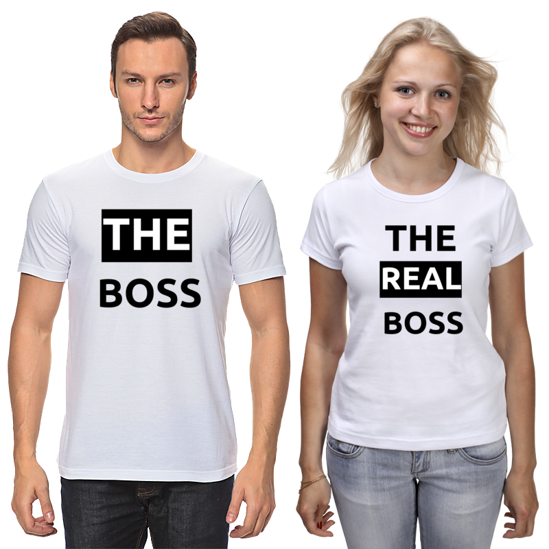 Футболки парные Printio The boss and the real boss