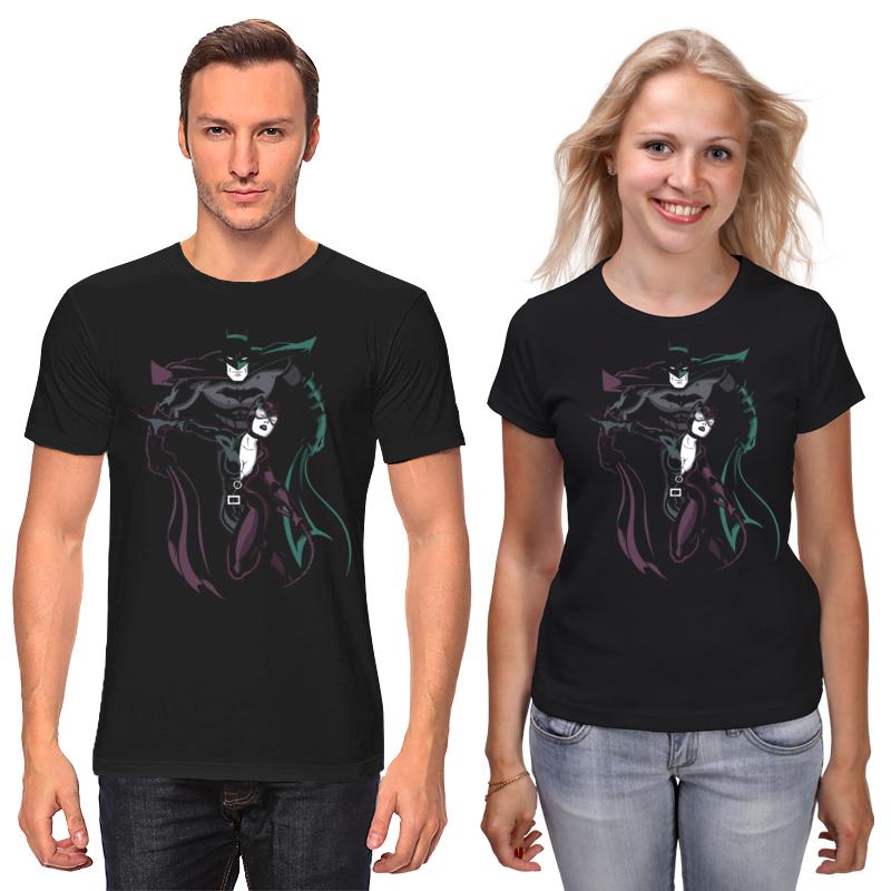 Футболки парные Printio Бэтмен и женщина - кошка футболки