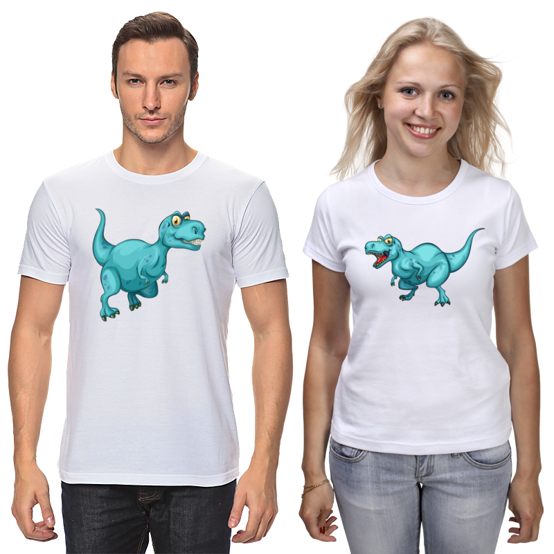 Футболки парные Printio Динозавр каталка s s toys динозавр 0360 разноцветный