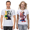 """Футболки парные """"The Joker&Harley Quinn Design"""" - джокер, харли квинн, отряд самоубийц, суперзлодеи, любителям комиксов"""