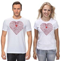 """Футболки парные """"Валентинка Я тебя люблю на разных языках"""" - любовь, 14 февраля, надписи, подарок, слова"""