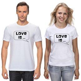 """Футболки парные """"любовь"""" - любовь, муж, жена, парные"""