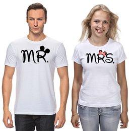 """Футболки парные """"Мистер и Миссис"""" - любовь, семья, парные"""