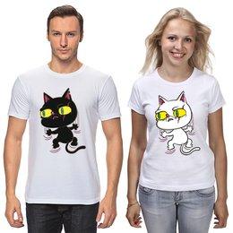 """Футболки парные """"Котик"""" - кот, кошка, животное, котёнок"""