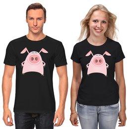 """Футболки парные """"Свинья"""" - новый год, 2019, поросёнок, свин, год свиньи"""