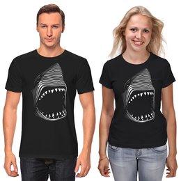 "Футболки парные ""Акула( Baywatch)"" - акула, baywatch"