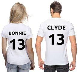 """Футболки парные """"Bonnie и Clyde (Бонни и Клайд)"""" - любовь, день святого валентина, для пары"""
