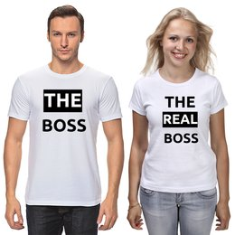 """Футболки парные """"The Boss and the real Boss"""" - 14 февраля, парные, влюбленные, годовщина"""