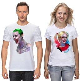 """Футболки парные """"Harley Quinn & Joker"""" - мужу, жене, комиксы, джокер, харли квинн"""