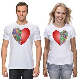 """Футболки парные """"Драгоценная половина"""" - праздник, любовь, 14 февраля, подарок, символ"""