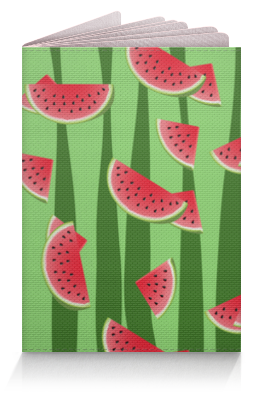Обложка для паспорта Printio Арбуз чехол для карточек фламинго на зеленом фоне дк2017 099