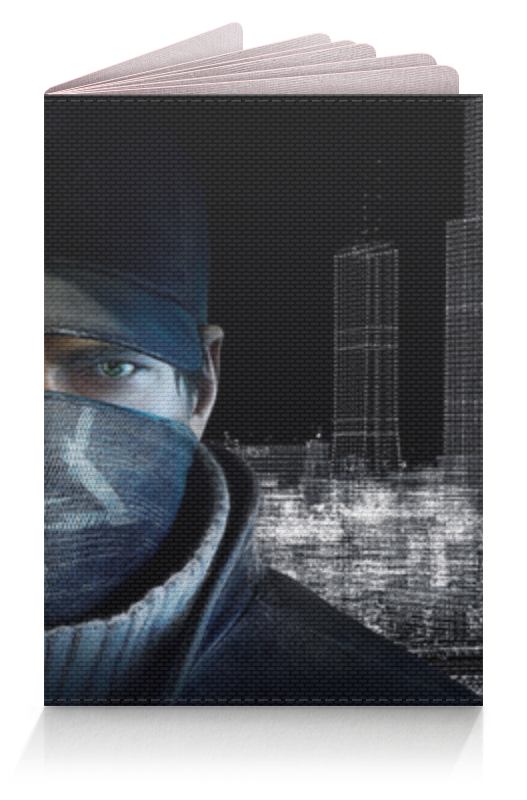 Обложка для паспорта Printio Watch dogs (сторожевые псы) watch dogs aiden pearce face mask cap hat set costume video game cosplay cos