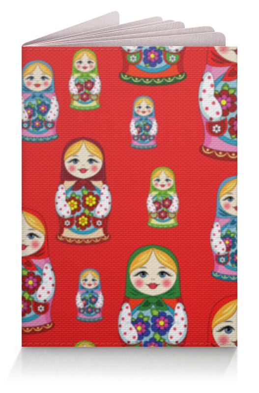 Обложка для паспорта Printio Матрёшки блузка женская oodji ultra цвет серо зеленый 11411127b 26346 6c00n размер 42 48 170