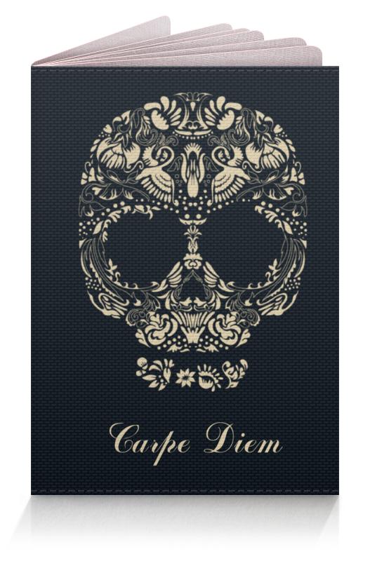 Обложка для паспорта Printio Череп цветочный орнамент