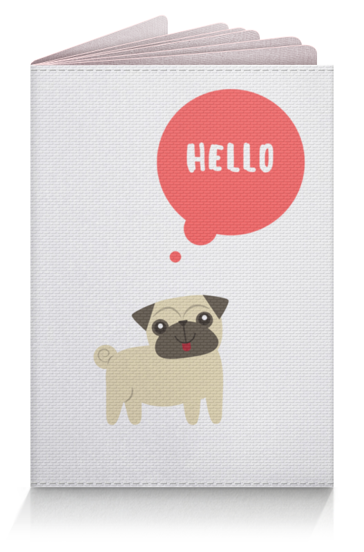 Обложка для паспорта Printio Hello pug цена