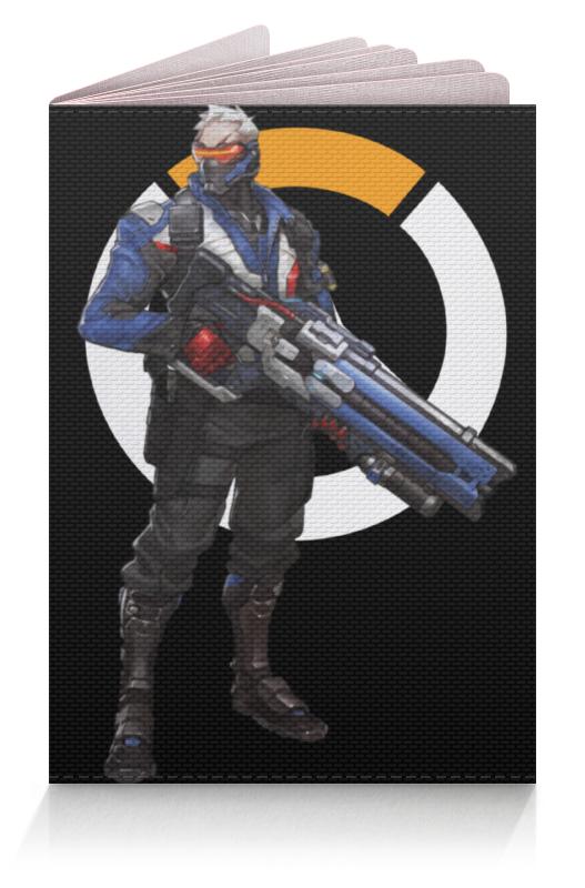 Обложка для паспорта Printio Overwatch soldier 76 / овервотч солдат 76