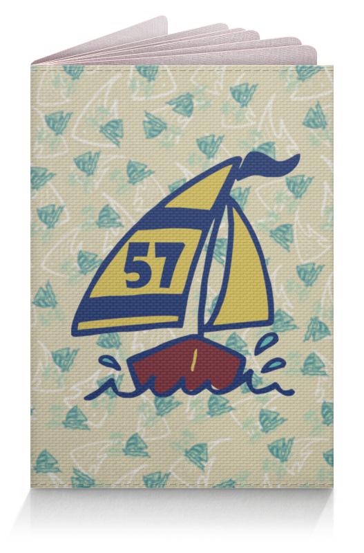 Обложка для паспорта Printio Кораблик бирка для чемодана кораблик