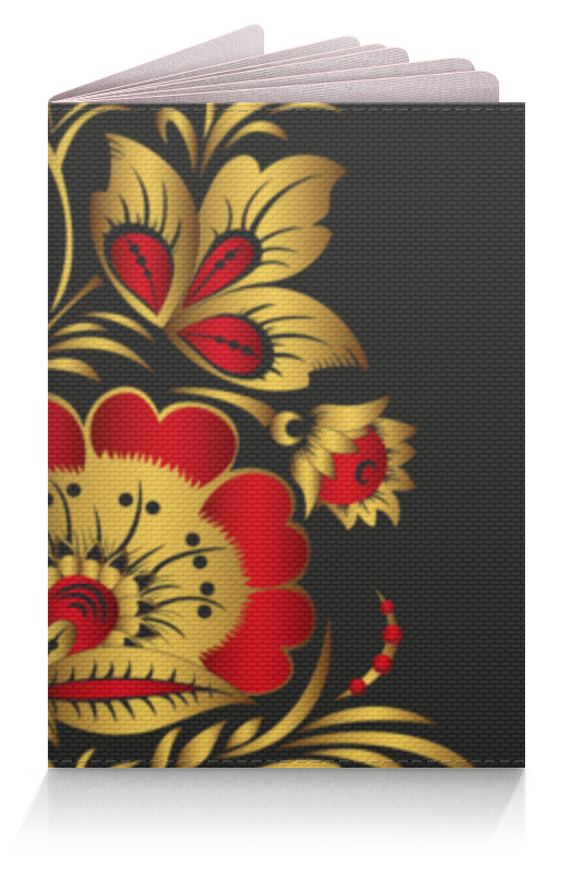 Обложка для паспорта Printio Узор из цветов полотенцесушитель водяной benetto флоренция флоренция 30 30 50 10 п22 7 6 5 4 дер накл 18шт сапеле