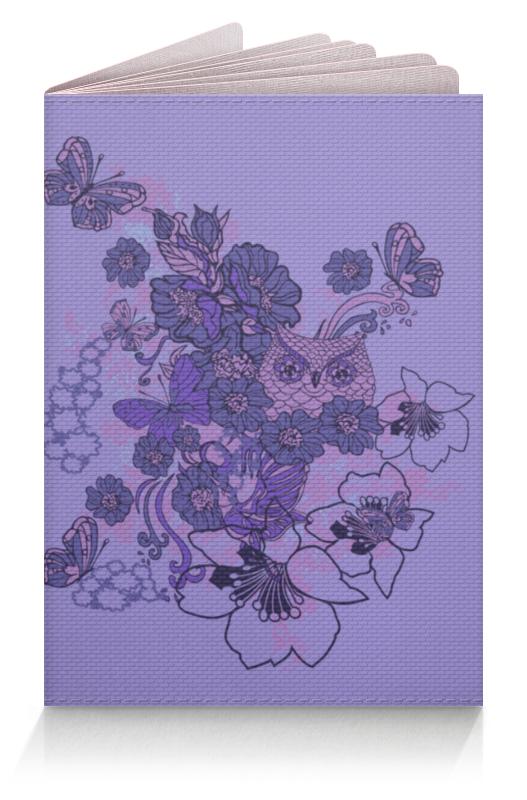 Обложка для паспорта Printio Сова в цветах обложка для паспорта printio бабочки
