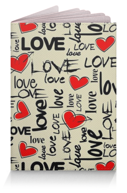 Обложка для паспорта Printio Love love обложка для паспорта printio with love