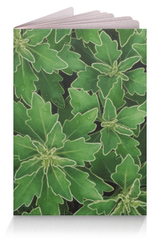 Обложка для паспорта Printio Зеленые листья derbe мыло белые цветы и зеленые листья 100 г