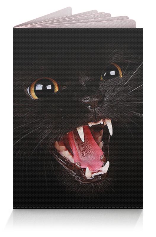 Обложка для паспорта Printio Черная кошка