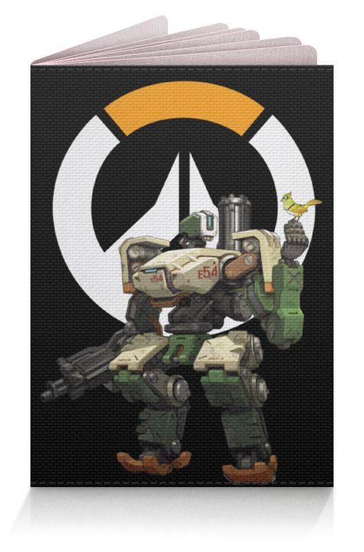 Обложка для паспорта Printio Overwatch bastion / овервотч бастион