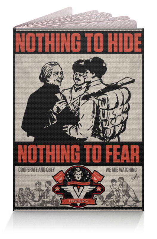 Обложка для паспорта Printio Nothing to hide nothing to fear