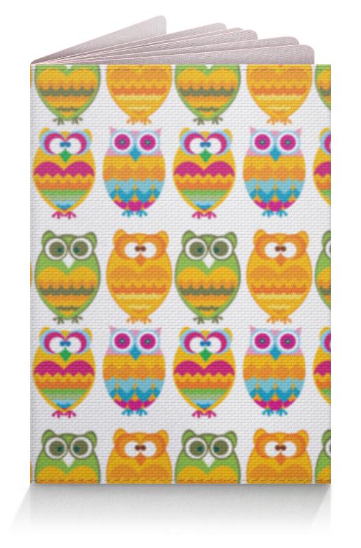 Обложка для паспорта Printio Разноцветные совы