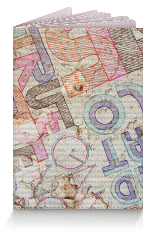 Обложка для паспорта Printio Шрифтовая композиция обложка для паспорта printio композиция