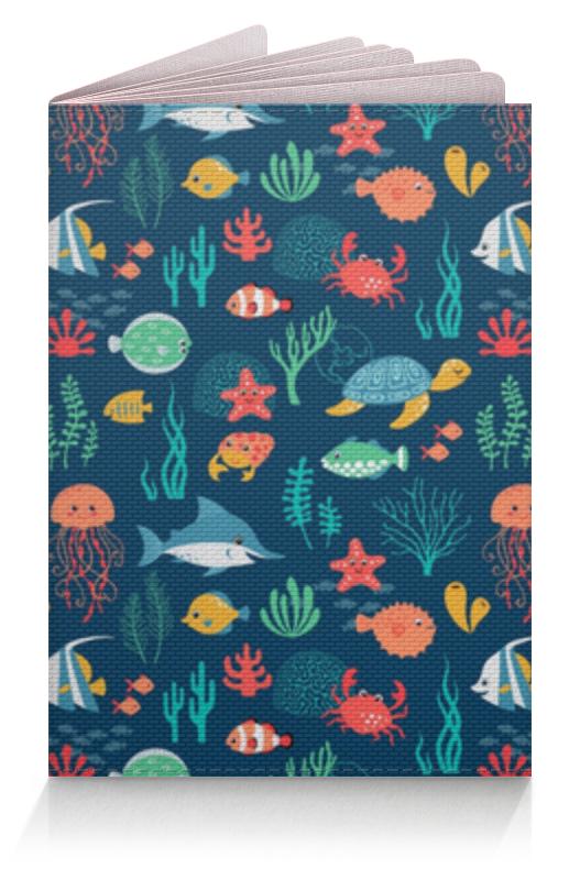 Обложка для паспорта Printio Морские жители игровые коврики mambobaby развивающий коврик морские жители односторонний 200х180х0 5см