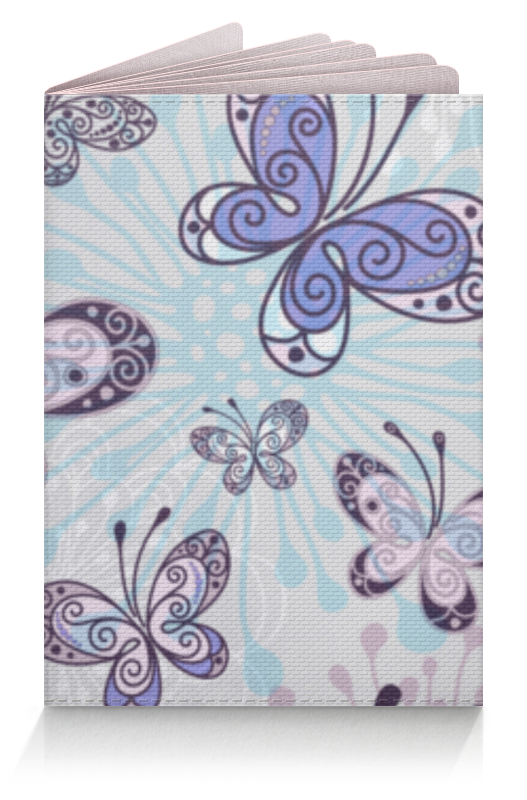 Обложка для паспорта Printio Фиолетовые бабочки обложка для паспорта printio бабочки