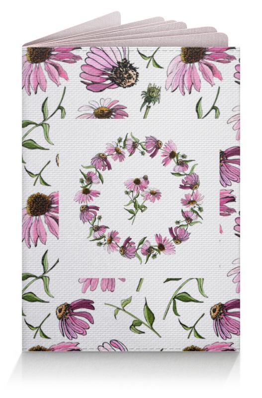 Обложка для паспорта Printio Цветок розовой эхинацеи цена