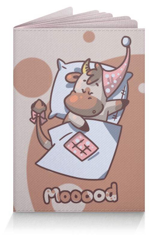 Обложка для паспорта Printio Mooood вкусная помощь сахарная вата снег 30 г