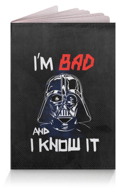 Обложка для паспорта Printio I'm bad and i know it (starwars) футболка с полной запечаткой женская printio i m bad and i know it starwars