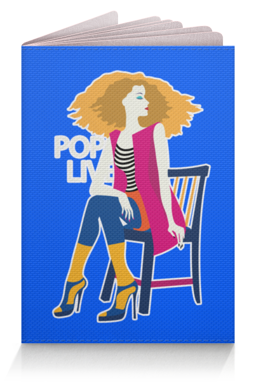 Обложка для паспорта Printio Поп арт дизайн. красивая девушка в полосатой майке чехол для ноутбука 14 printio девушка