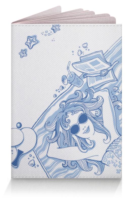 Обложка для паспорта Printio В отпуск! море! солнце! лето!