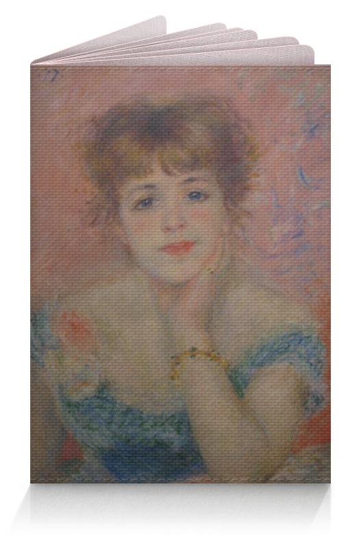 Обложка для паспорта Printio Портрет актрисы жанны самари (ренуар)