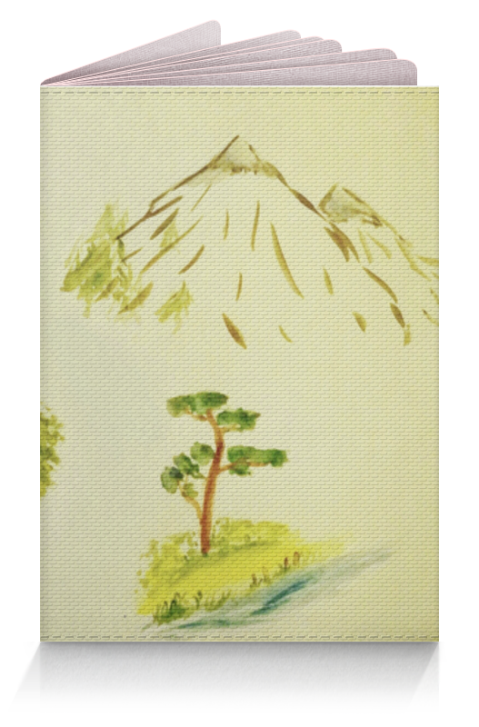 Обложка для паспорта Printio Горы, сосны и цветы обложка для паспорта printio горы сосны и цветы