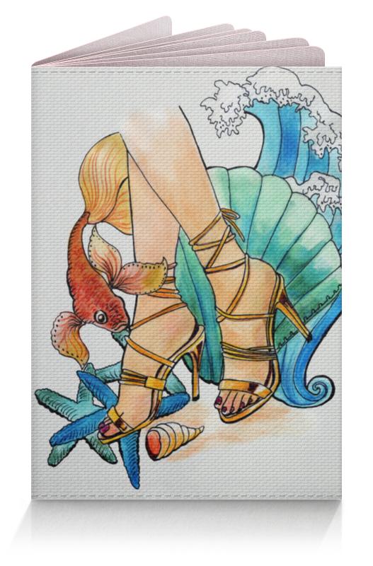 Обложка для паспорта Printio Золотая рыбка и исполнение желаний