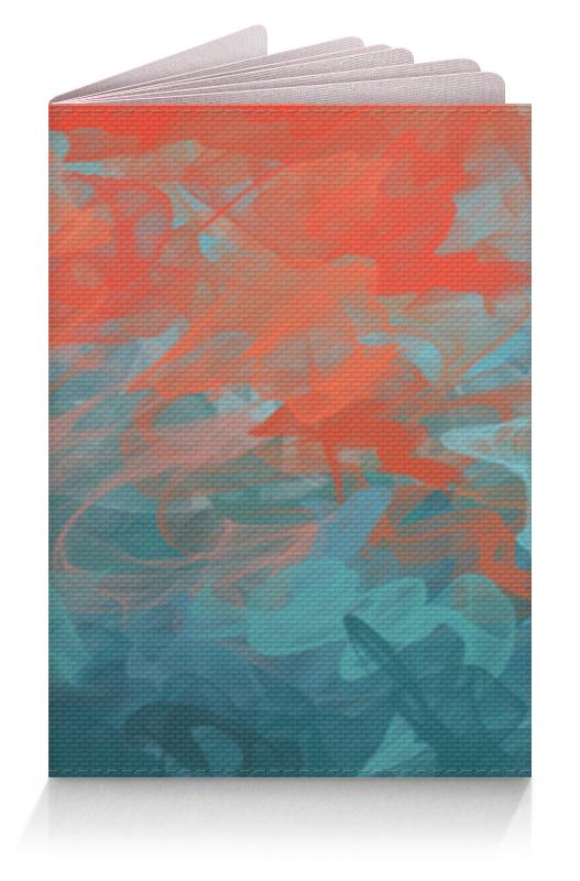 Обложка для паспорта Printio Абстрактный градиентный дизайн. дигитал акварель чехол для ноутбука 14 printio цветы акварель